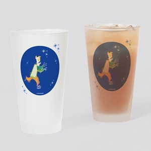 Clowny Mime Bear [blue 2] Drinking Glass